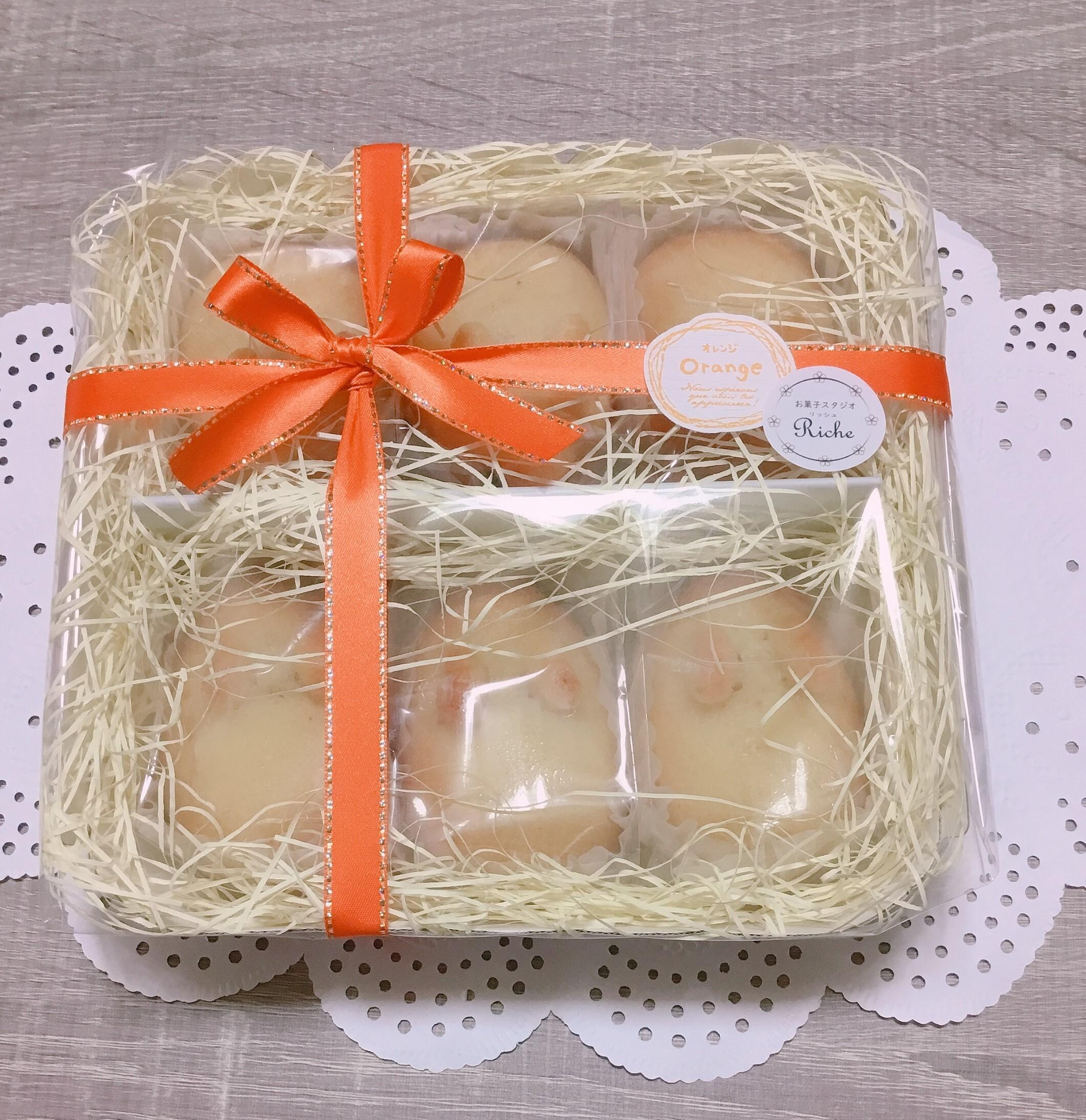 【月~金曜日発送】オレンジ焼きうさぎ6羽セット※期間限定(焼き菓子/フィナンシェ/お菓子ギフト)