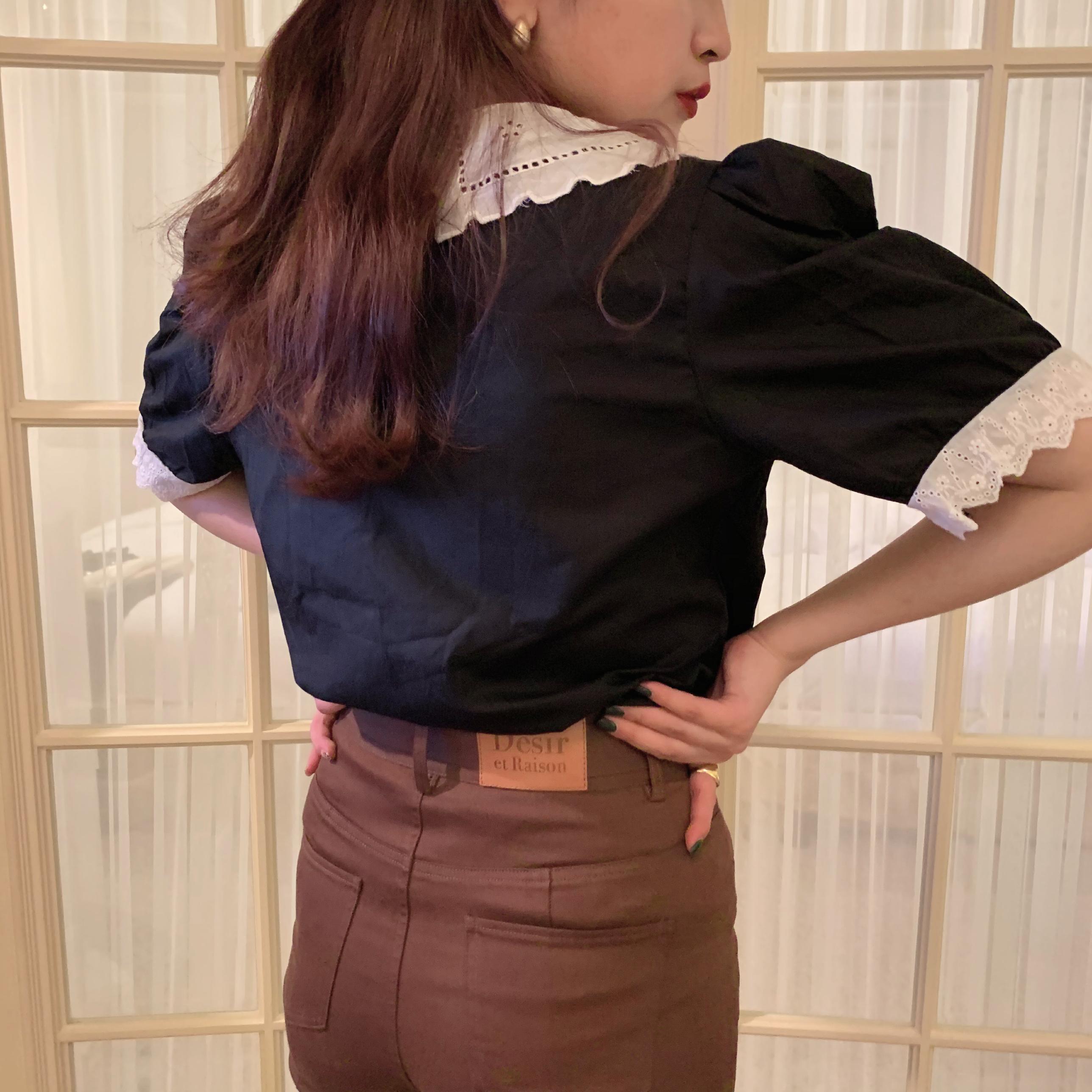 flower coller blouse