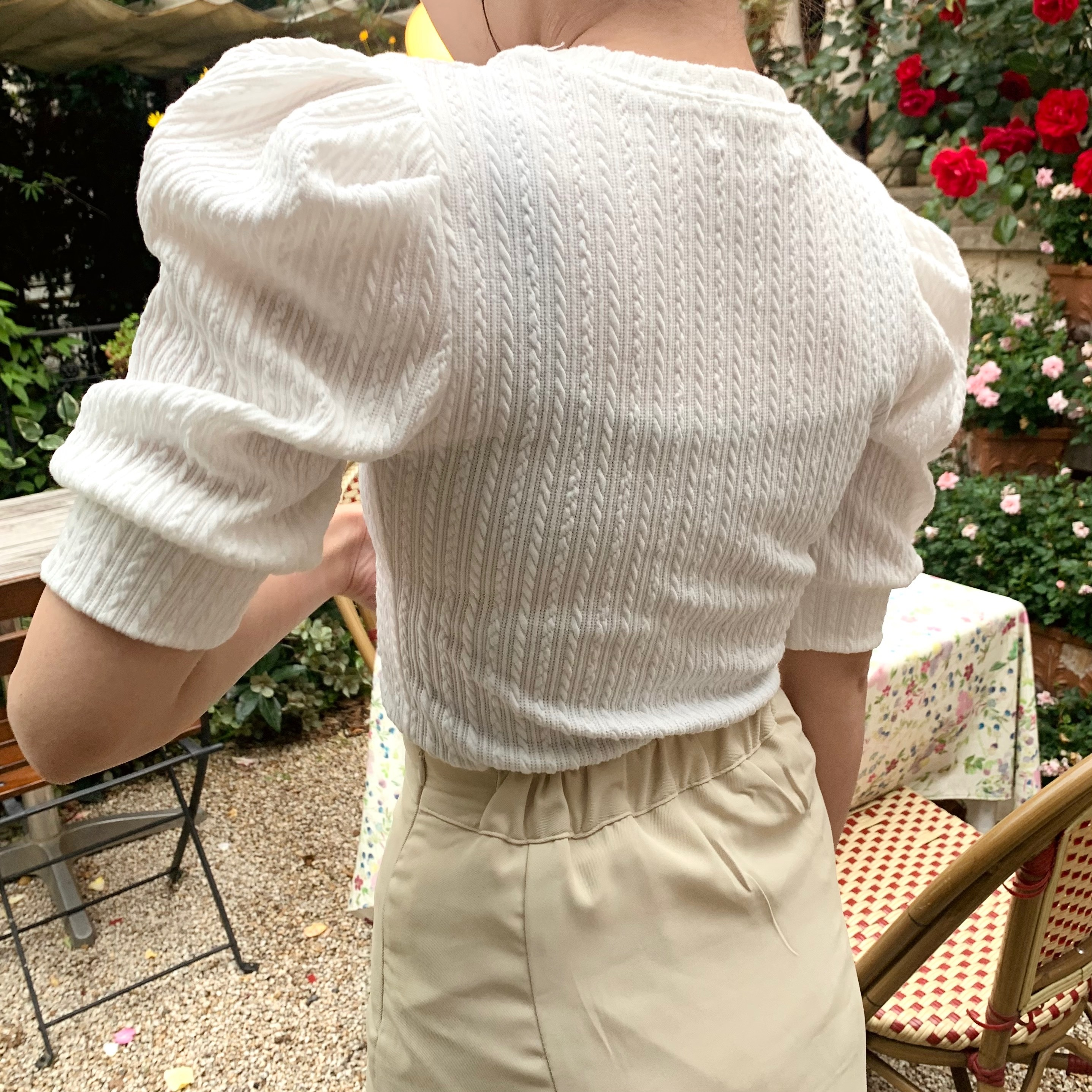 elegant cable summer knit