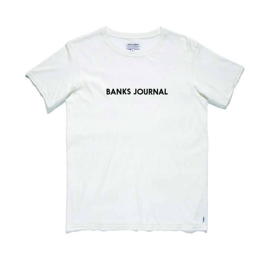 BANKS バンクス LABELTシャツ ロゴTシャツ SURF サーフ ALTS0227 ホワイト