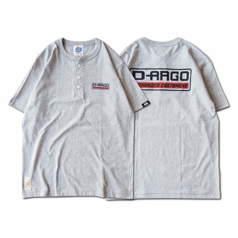 """【DARGO】""""D-ARGO"""" Henryneck T-shirt (HEATHER GREY)"""
