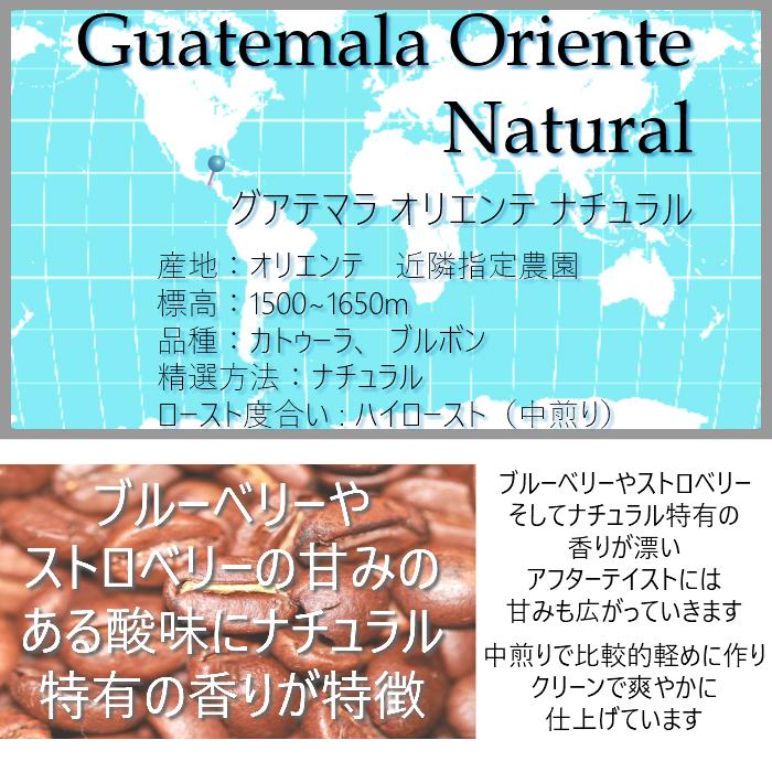 グアテマラ オリエンテ ナチュラル 200g<ハイロースト>
