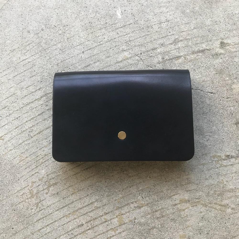 forme Hand wallet FULL CORDOVAN NAVY