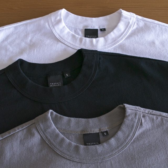 TRAVAIL MANUEL トラバイユマニュアル クラシック天竺L/SバインダーTシャツ