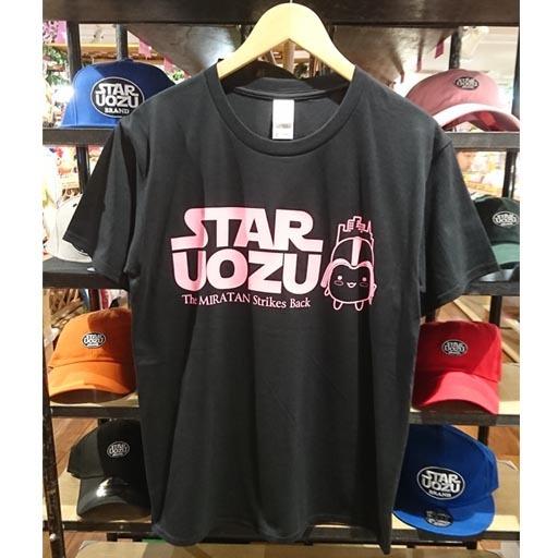STAR UOZU & ミラたん コラボTシャツ ブラック×ピンク
