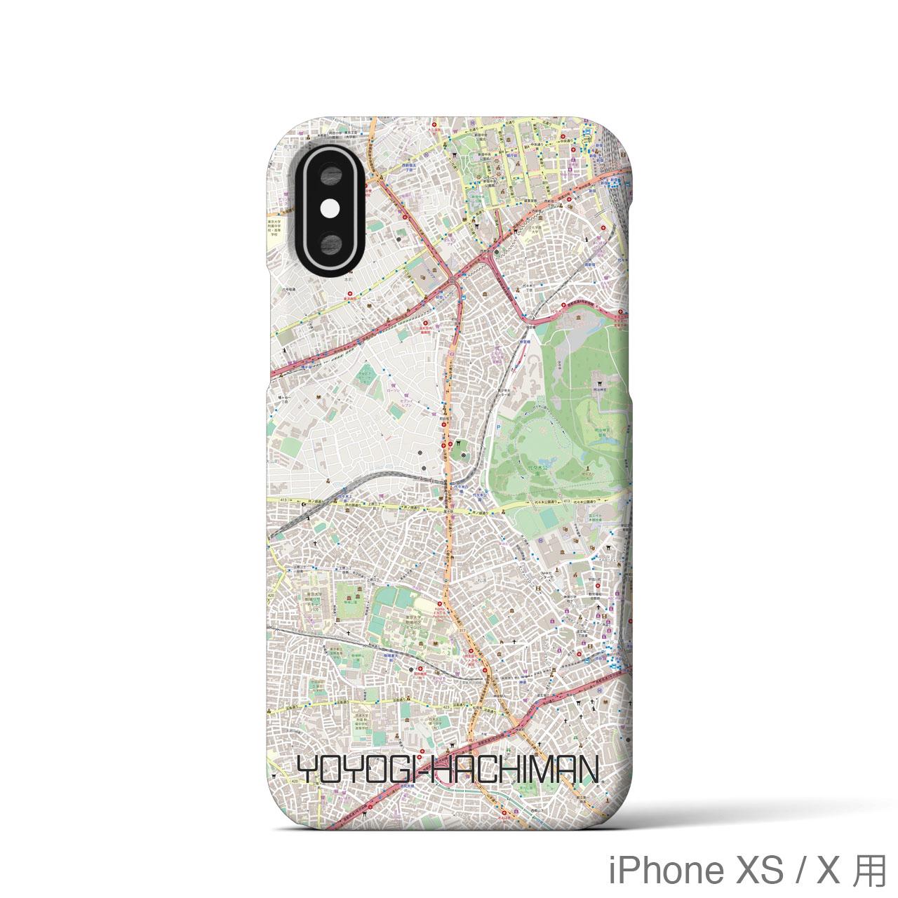 【代々木八幡】地図柄iPhoneケース(バックカバータイプ・ナチュラル)