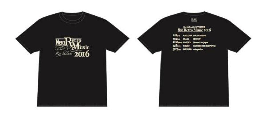 "LIVE TOUR ""Neo Retro Music 2016"" Tシャツ<ブラック>"