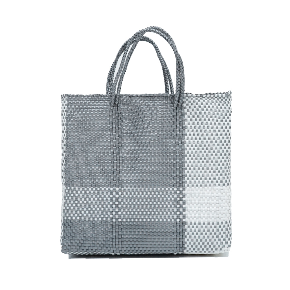 MERCADOBAG CROSS LINE - White x Silver (M)