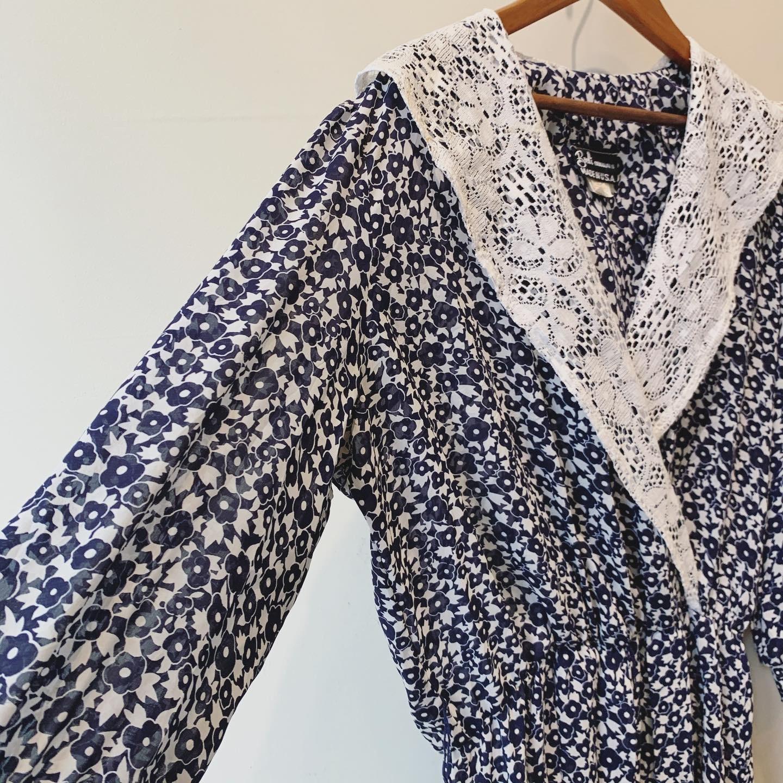 【sale】vintage lace collar design onepiece