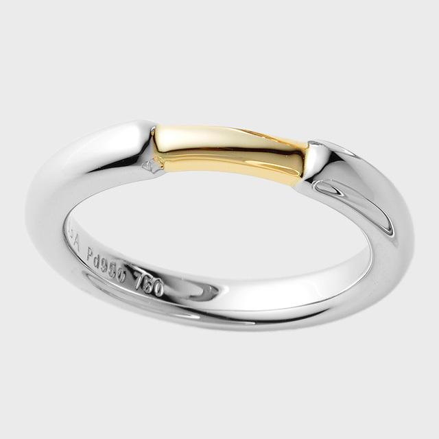 PORTADA BABY RING PUENTE(ダイヤなし)K18YG×Pt950(ポルターダ ベビーリング プエンテ K18イエローゴールド×プラチナ950)