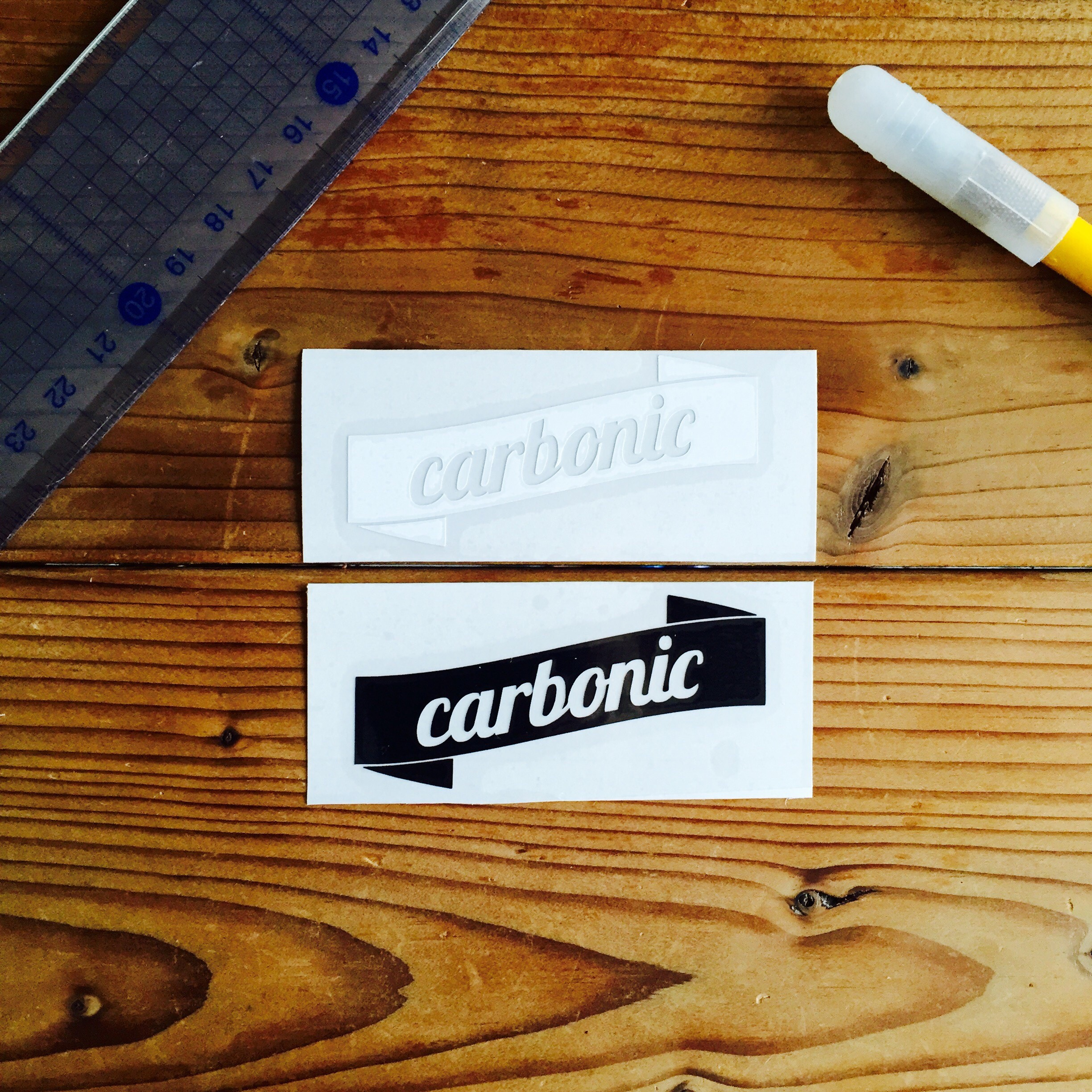 carbonic RIBBON cutting sticker (S)