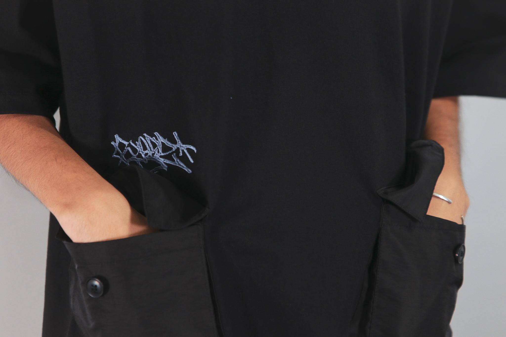 2POCKET OVERSIZE HEAVY TEE Kreso Tag Exclusive [BLACK]