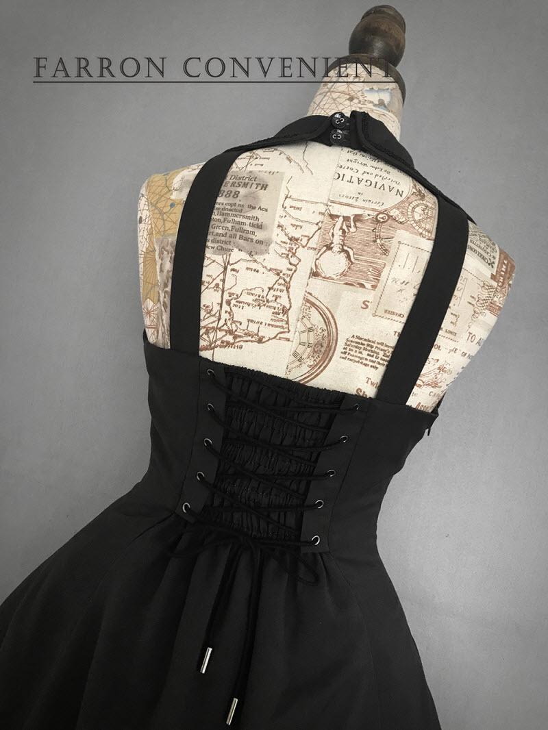 【在庫あり】Farron Covenant- Vintage Gothic Lolita Collar JSK~ヴィンテージゴシックロリータカラージャンパースカート~