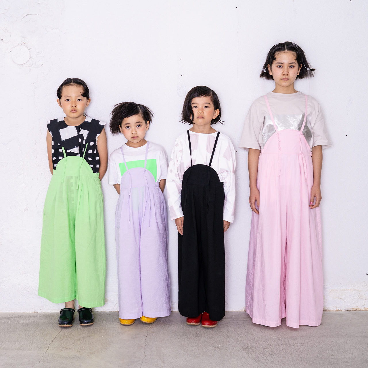 AIRY WIDE OVERALLS DYED / S - L