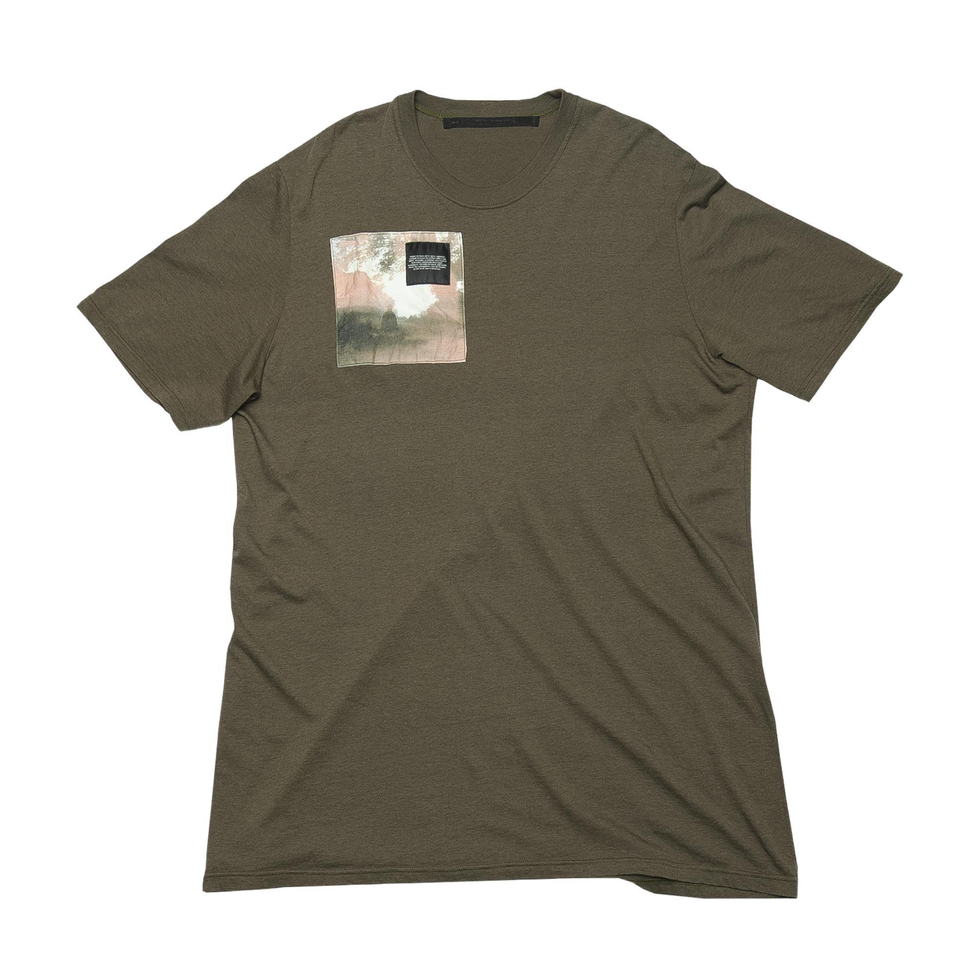687CPM2-KHAKI / パッチプリントTシャツ