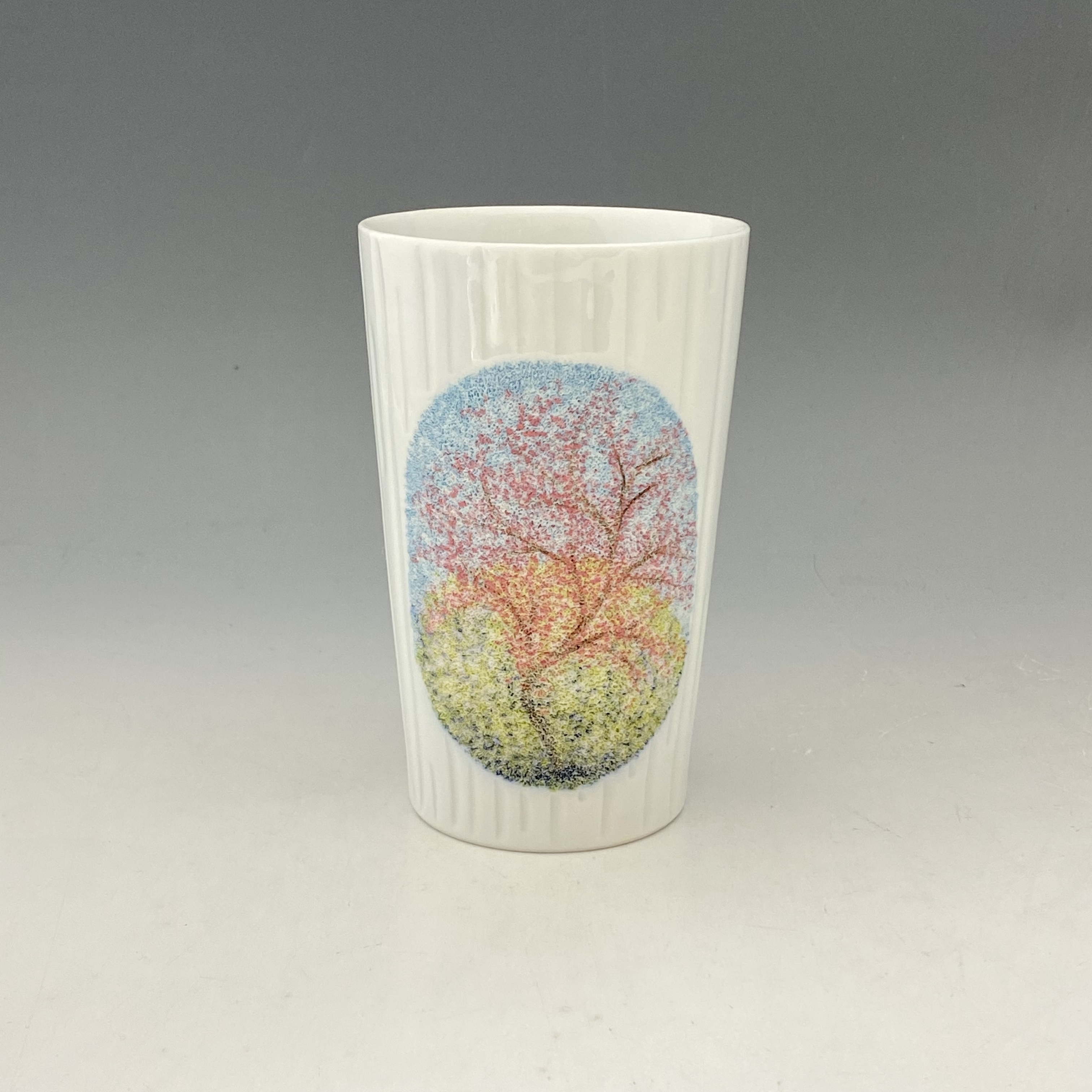 【中尾恭純】点刻象嵌線彫フリーカップ(桜)