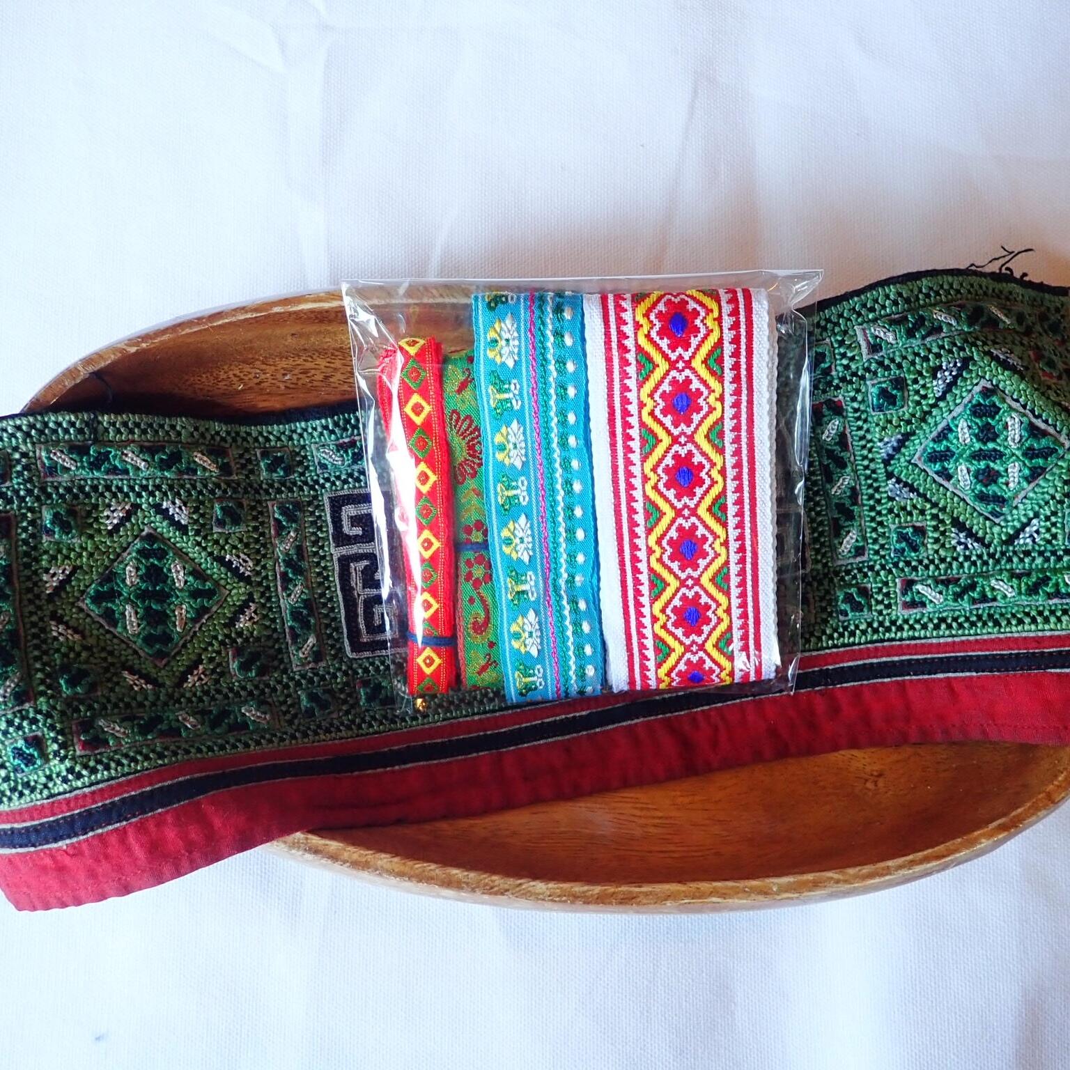 チェンマイ モン族刺繍テープセット *5*