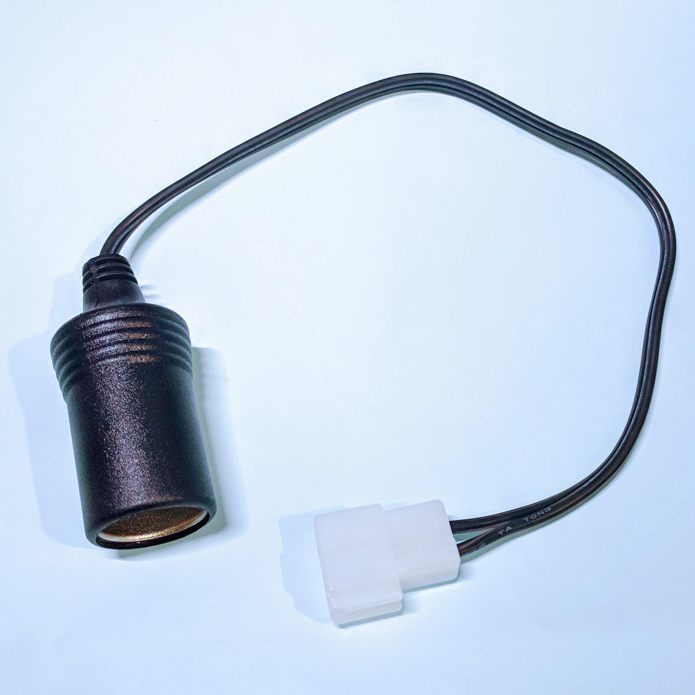 電源変換ケーブル 250型2極カプラ(オス)→シガーソケット