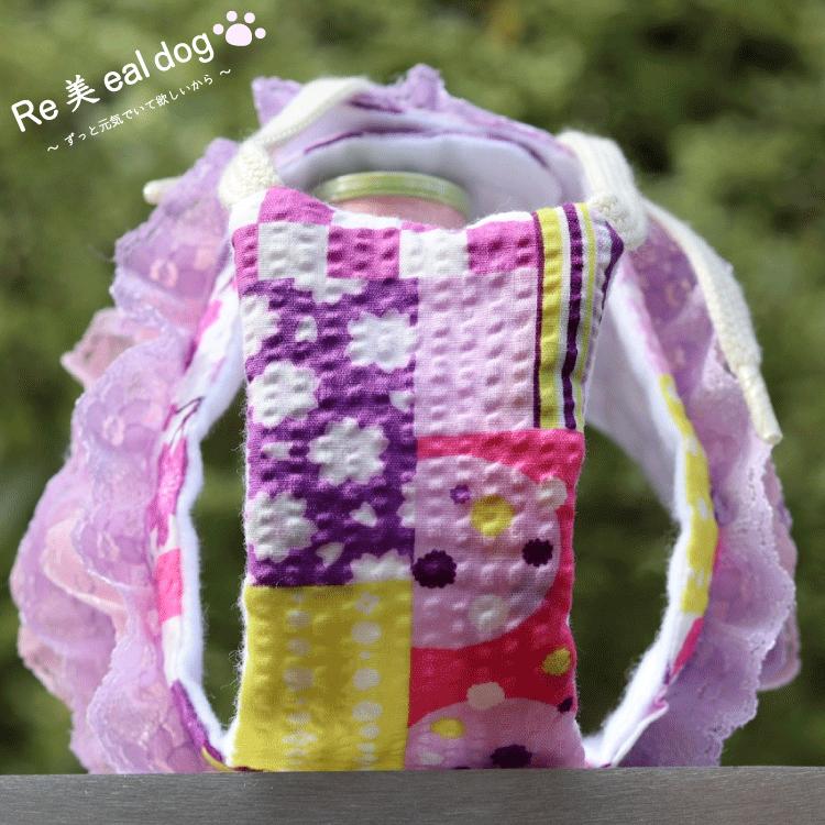 サニタリーショーツ / 和柄 / 紫 / フリフリ有(ピンク,薄紫)