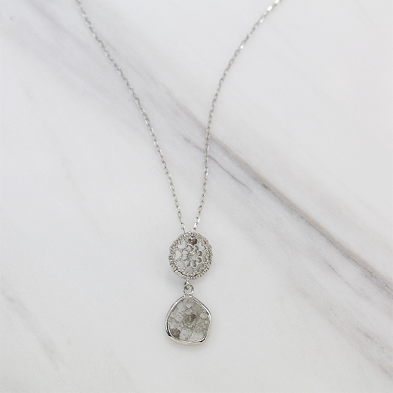 K18WG/diamondペンダント