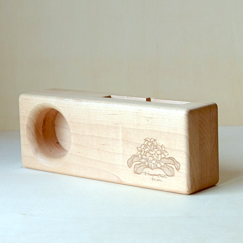 Wood eco speaker [Plumeria One Point / wood:メープル] 【WES-PLU-O-1】