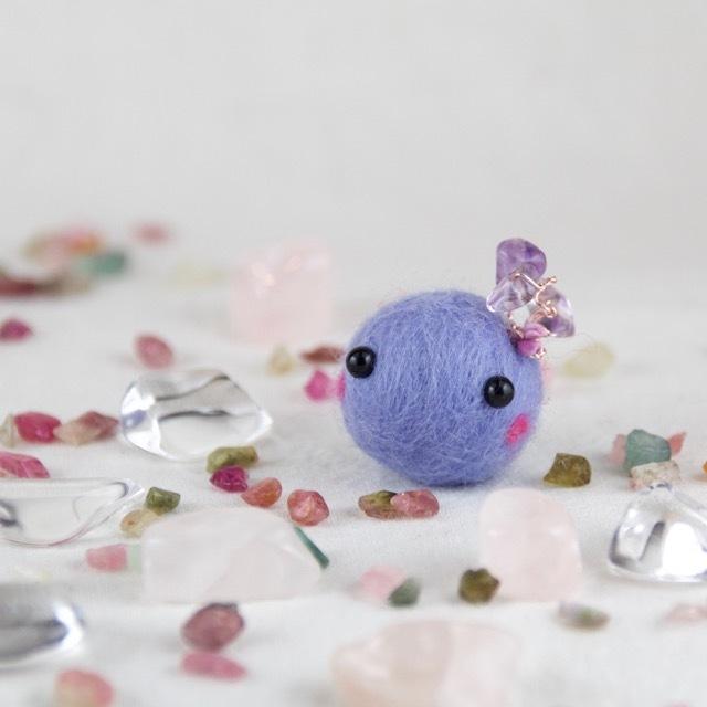癒し♪天然石cororin(薄紫)