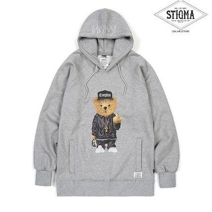STIGMA☆COMPTON BEAR HOODIE GRAY