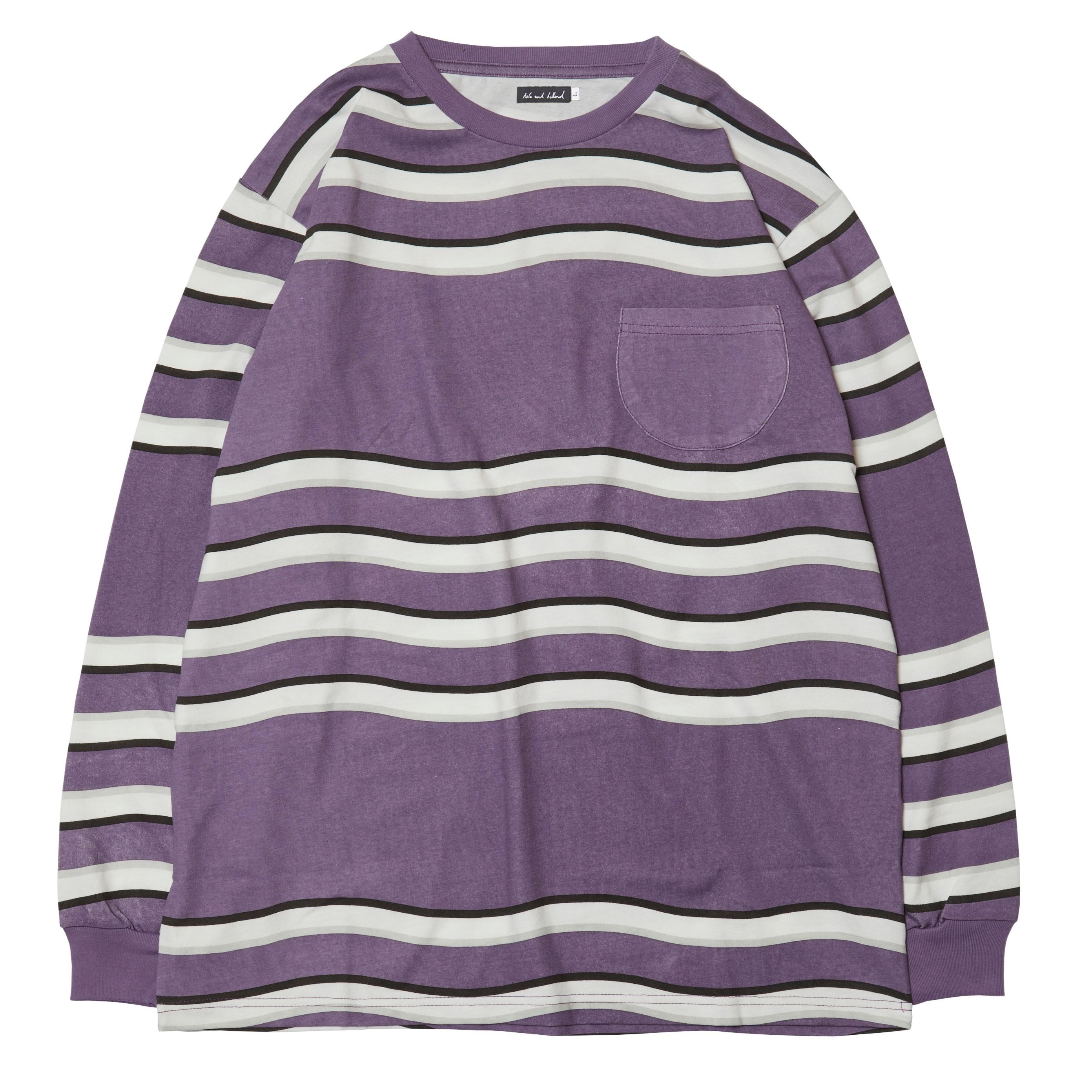 【HOLE AND HOLLAND】ACID BOADER LS TEE(PURPLE)
