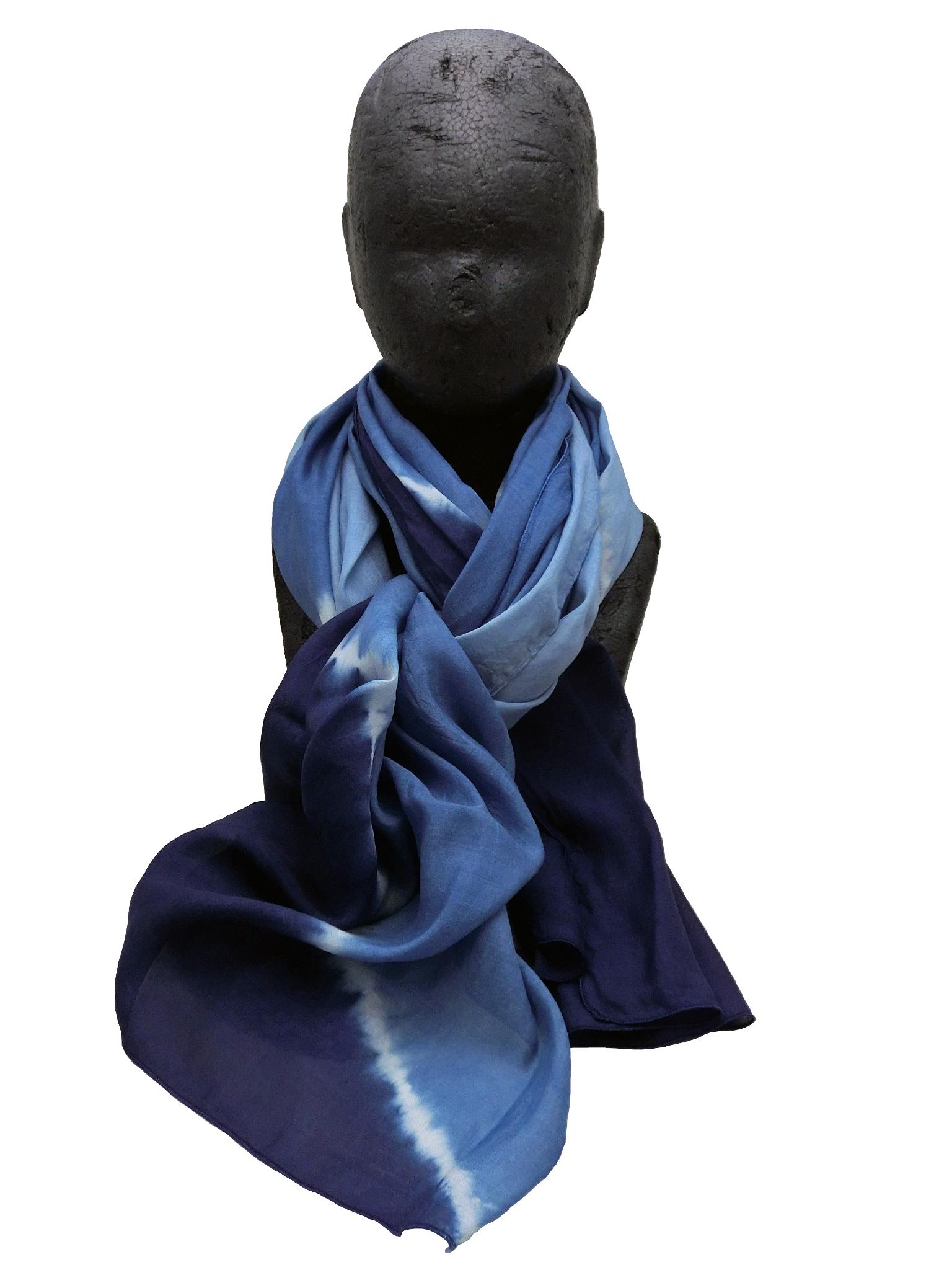 極繊細絹紡織 ストール 3段絞り