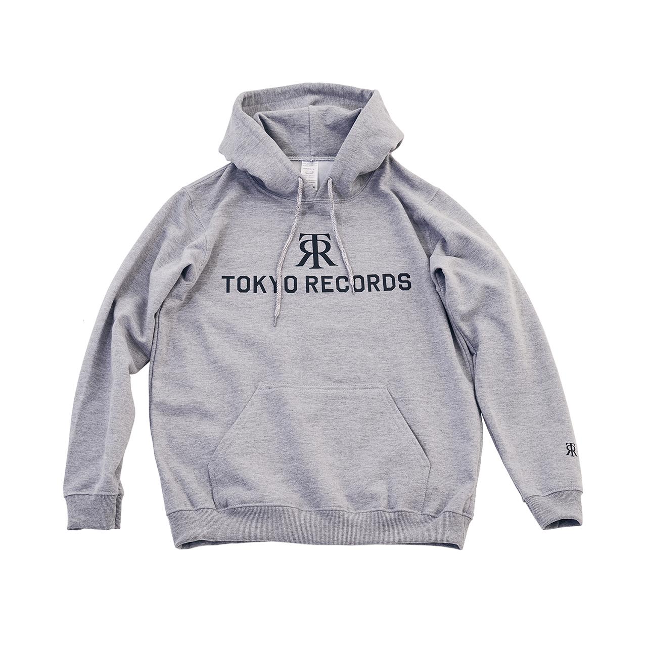 TOKYO RECORDS LOGO HOODIE(GRAY × WHT)