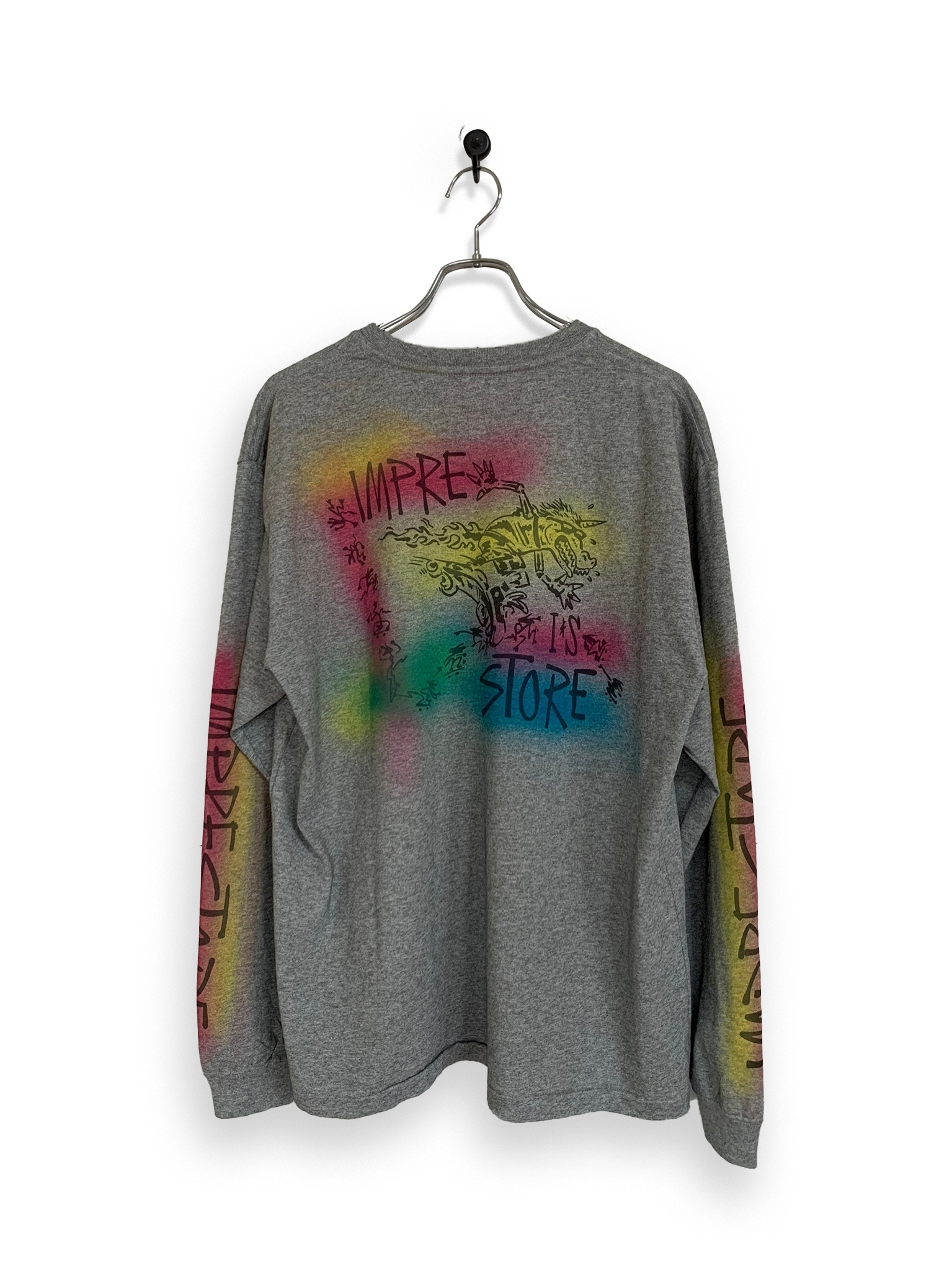 Original Long Sleeve-T / air brush / gray