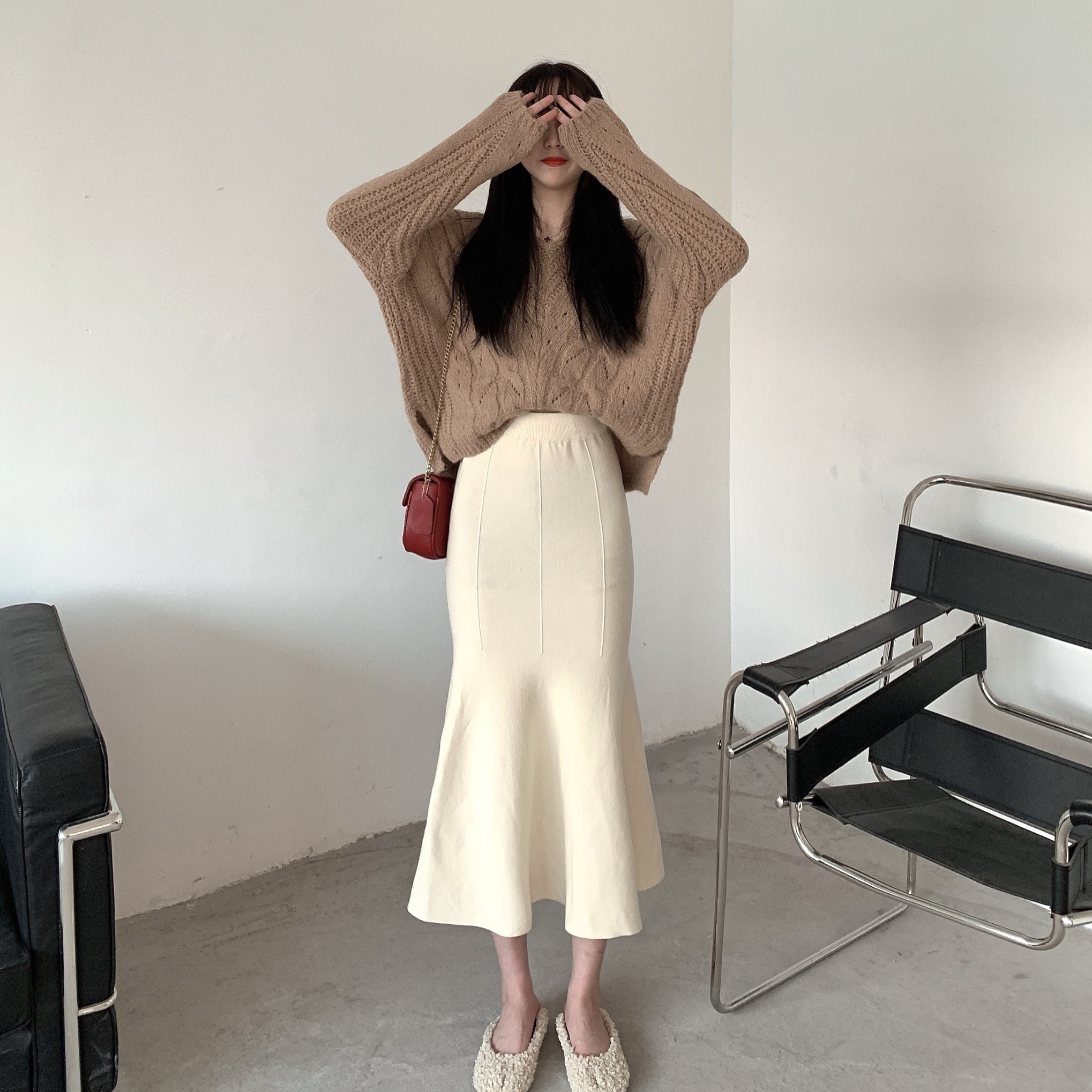 〈カフェシリーズ〉カフェに行きたくなるマーメイドスカート【cafe  Mermaid skirt】