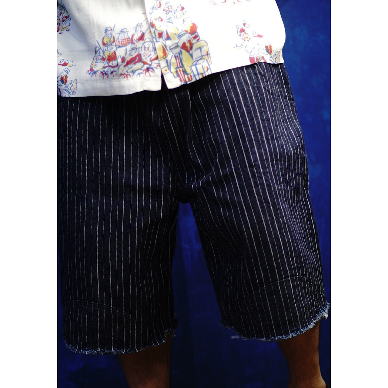HAWAIIAN DENIM KARATE SHORTS