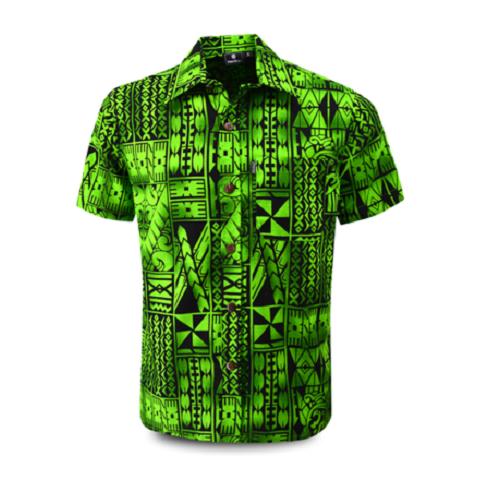 Aloha Shirt 2019 Tapa Green
