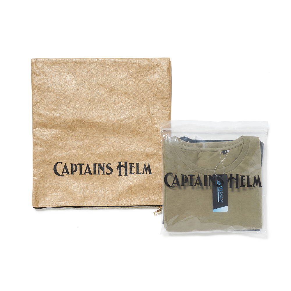 CAPTAINS HELM #2 Pack Tee BLK/OLV