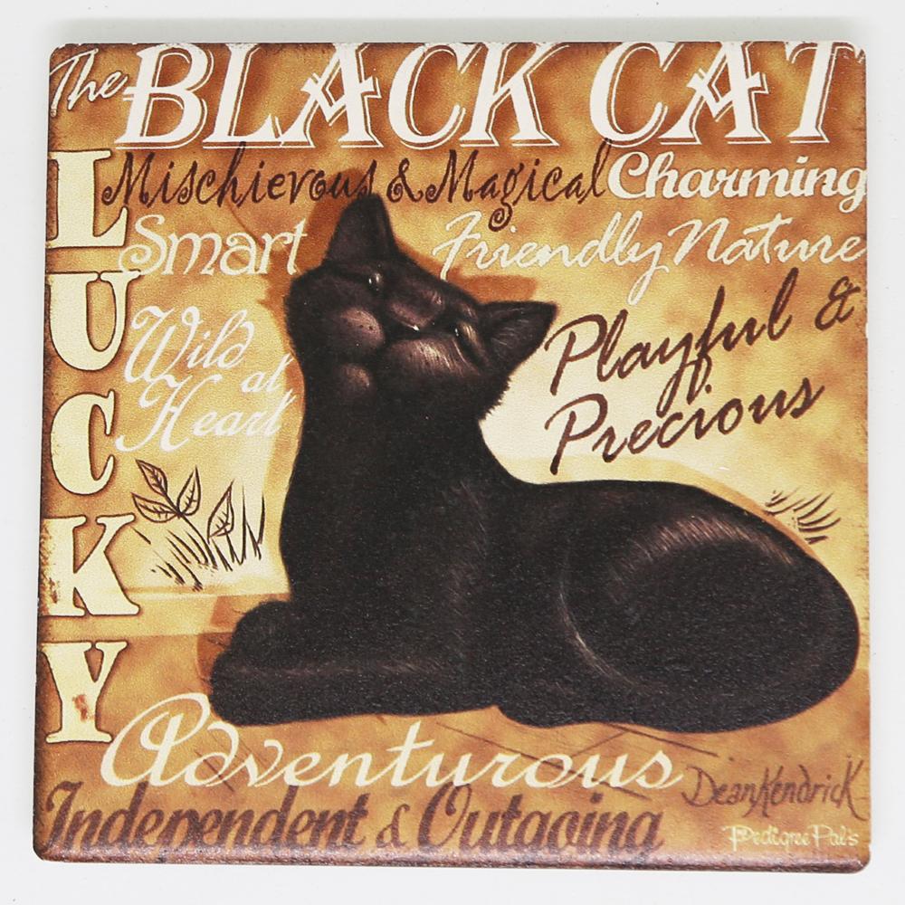 猫コースター(レトロキャット)おすまし黒