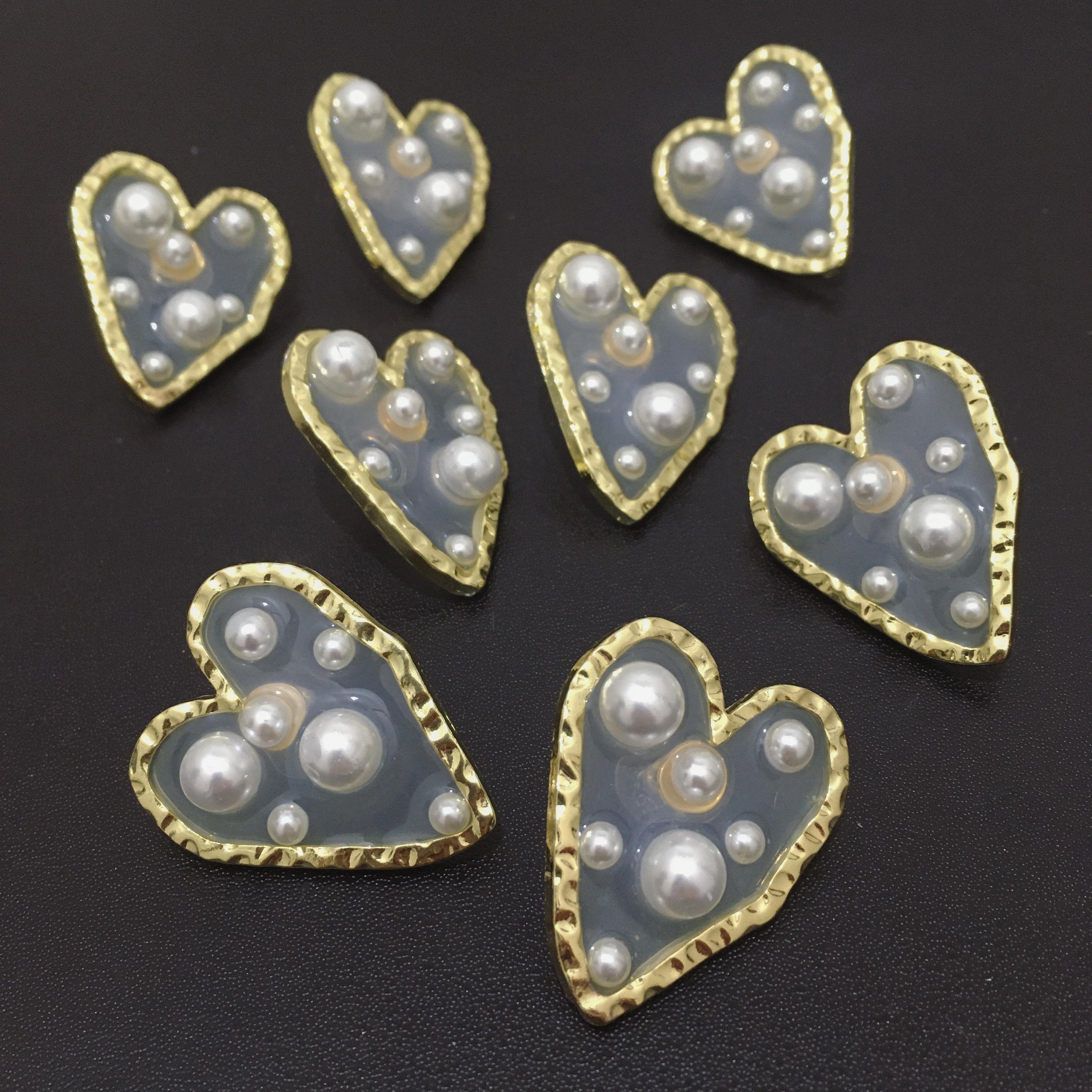 heart×pearl pierce(silver925post)