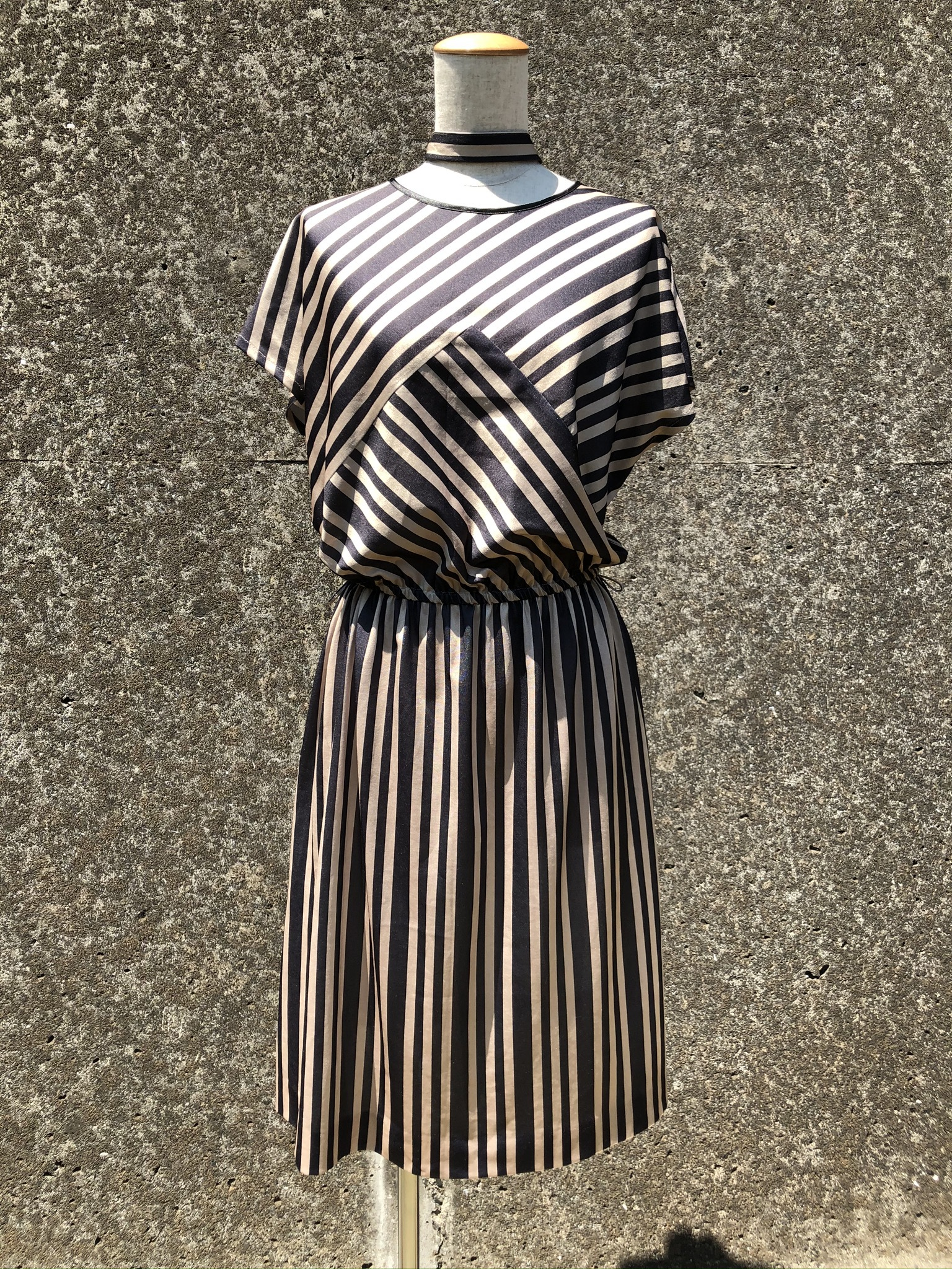 polyestel stripe dress