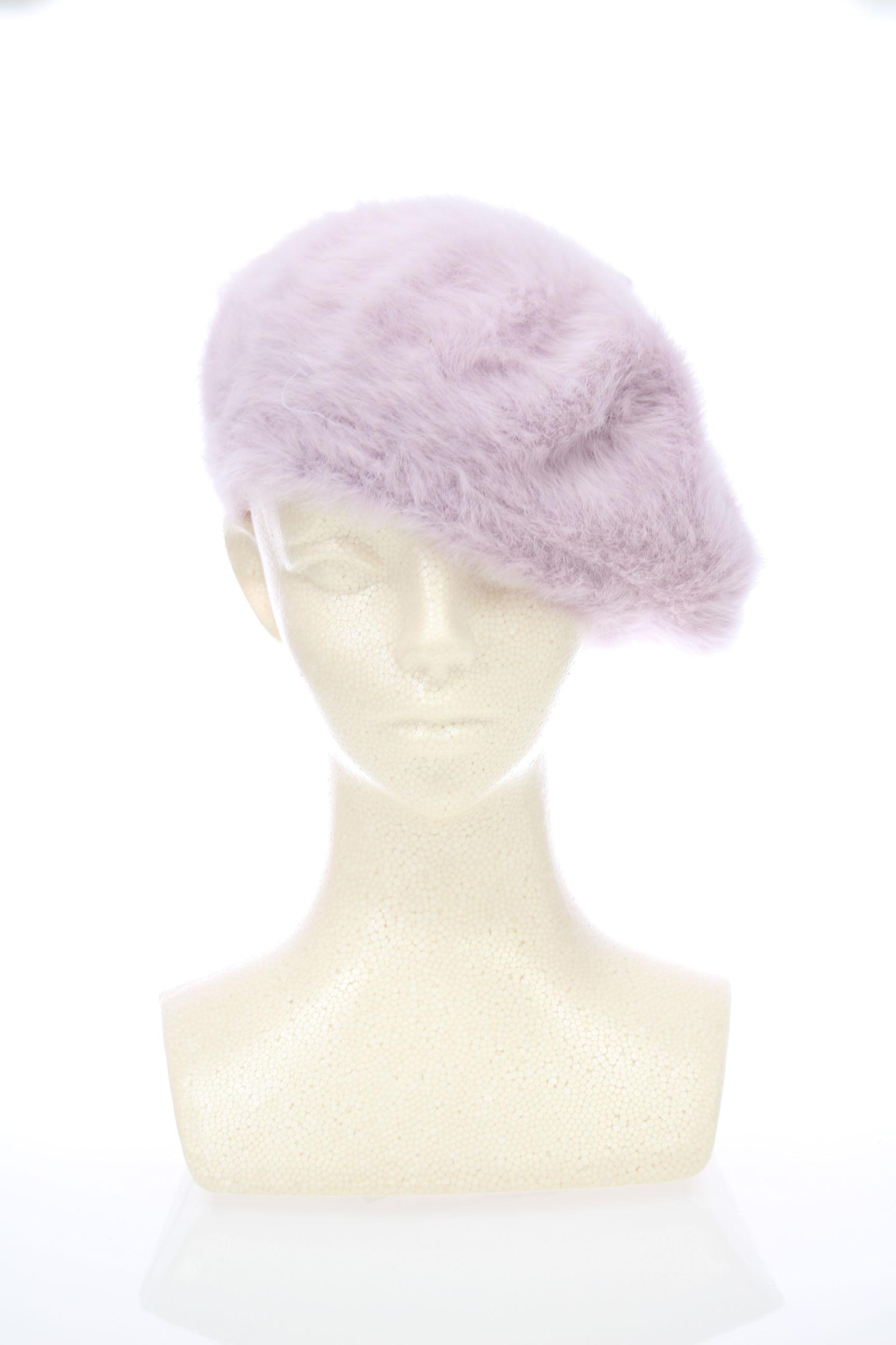 ふわふわベレー帽【くすみピンク】