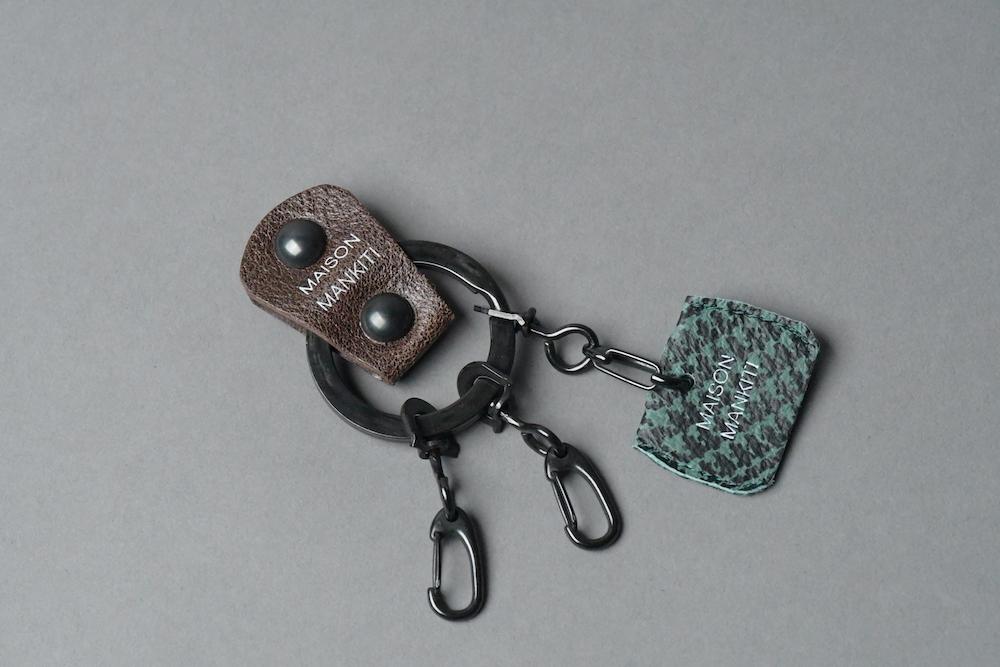 KEY RING・CAP ■DB・チドリ■_本革真鍮キーリング・キーキャップセット_ - 画像1