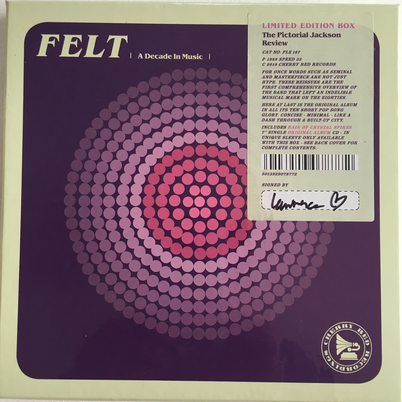 【CD + 7inch ・英盤】Felt / The Pictorial Jackson Review