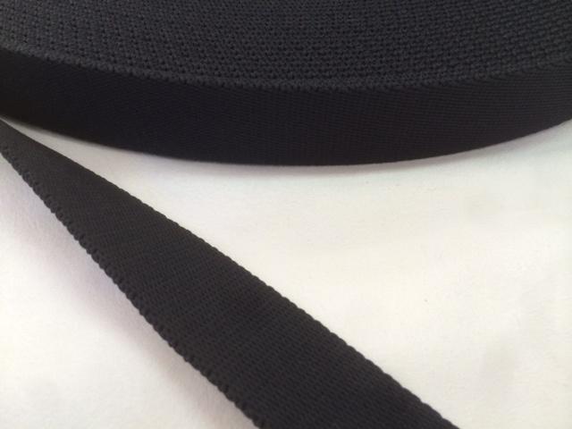 ポリエステルテープ 厚手 25㎜幅 5m 黒