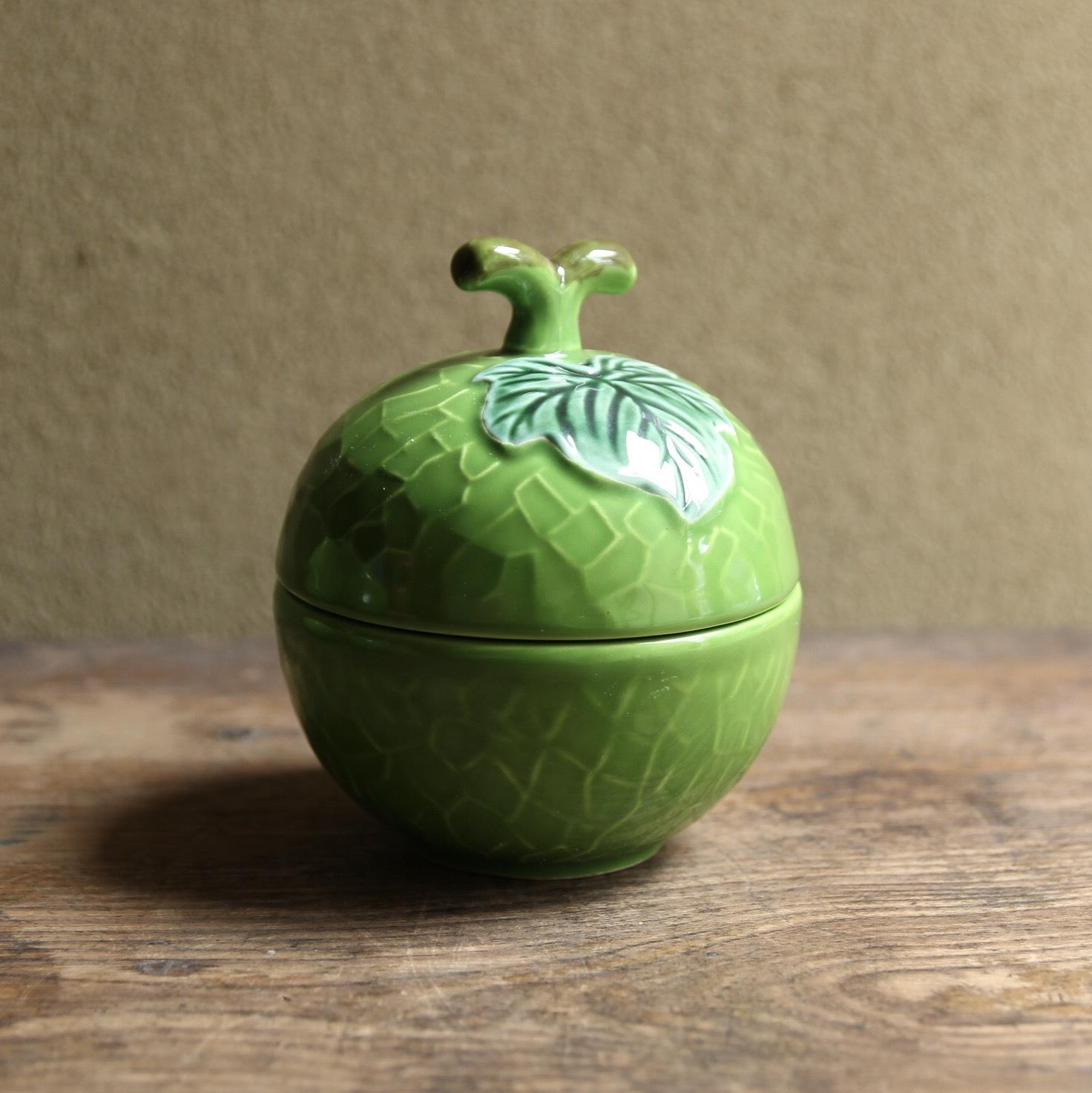 レトロなメロンの蓋付き小鉢 在庫5玉