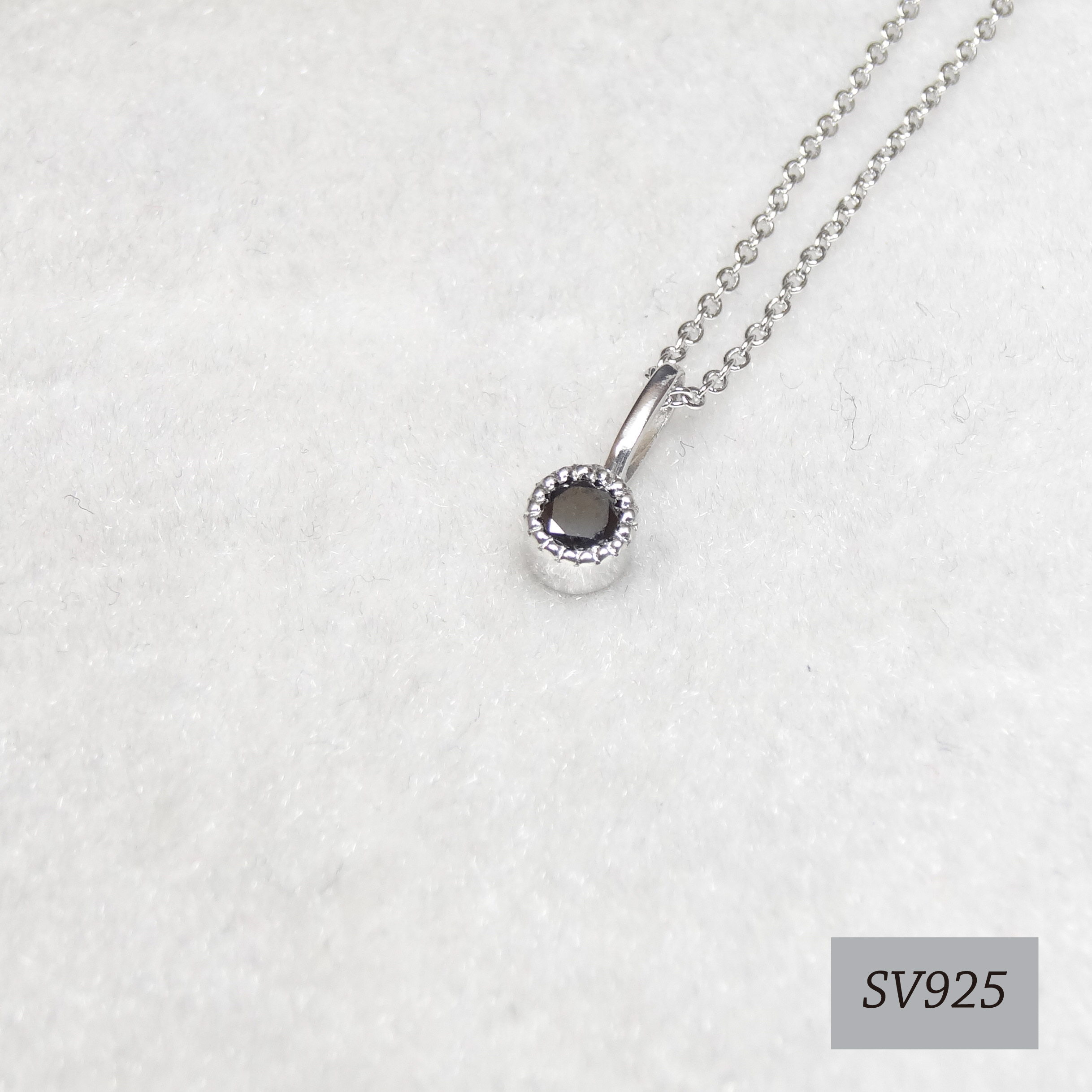 SVミルネック  ブラックダイヤモンド♡永遠の絆/邪気払い/人間関係/カリスマ性♡