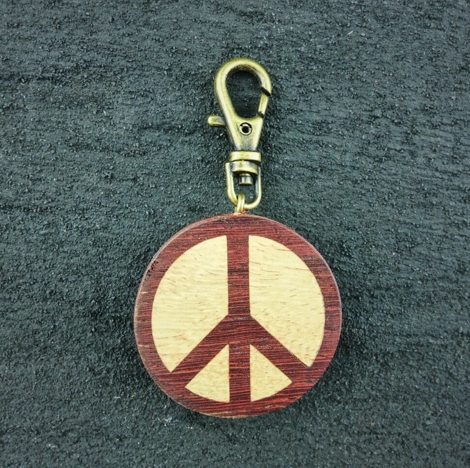 wooden inlaid charm IH-006-PD