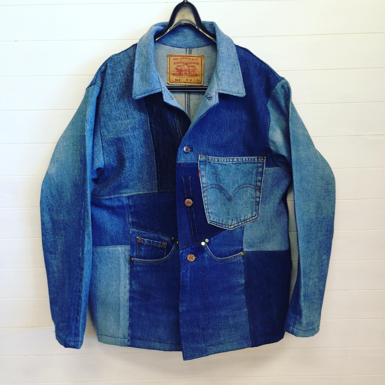 オリジナルデニムパッチワークジャケット 1