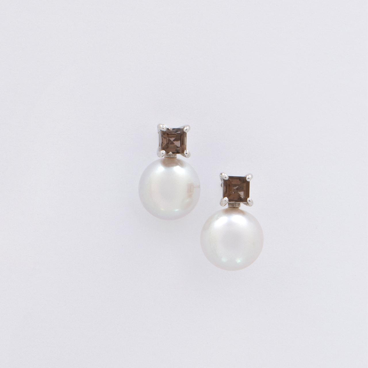 ELEMENTS / Pierced Earrings (Grey)