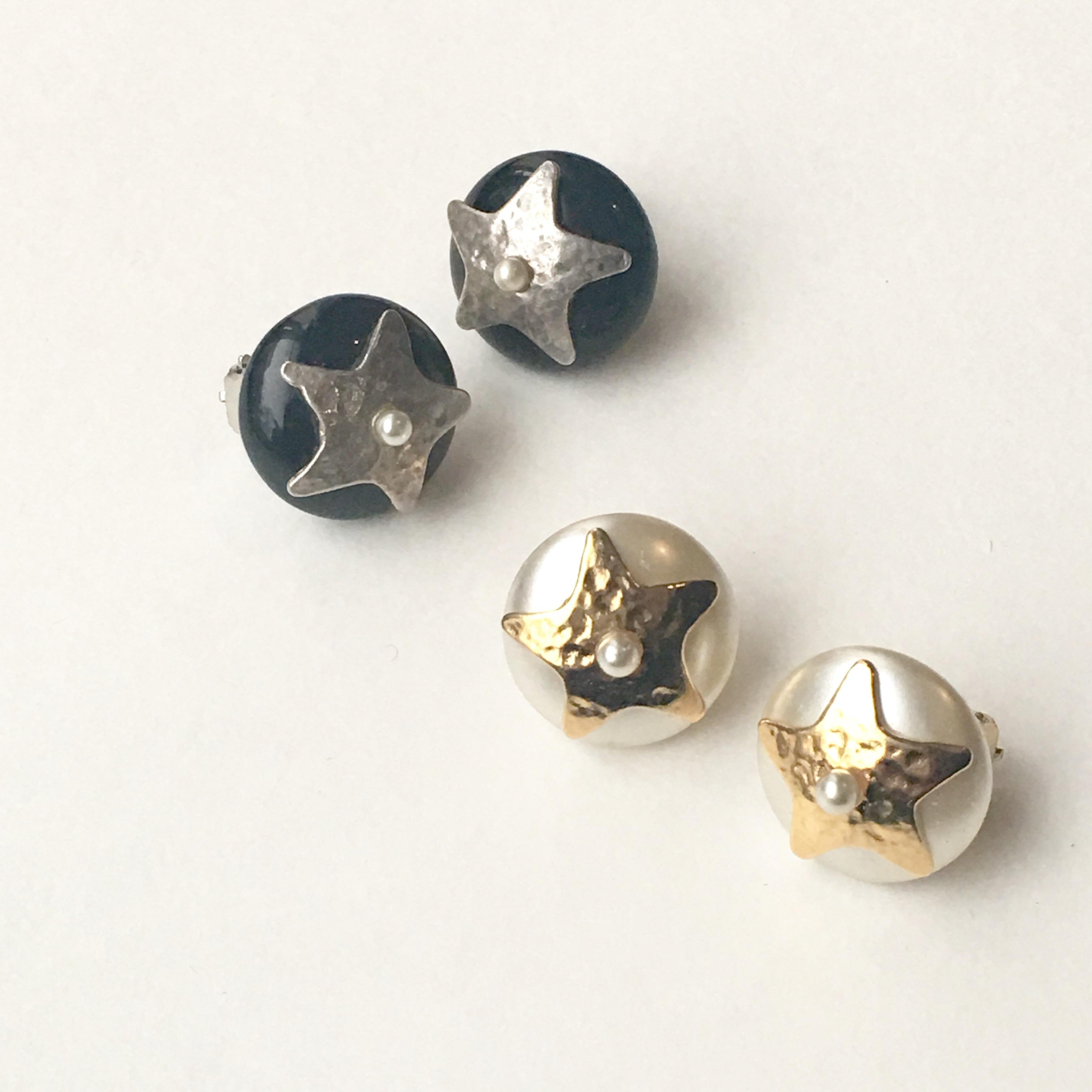Classic star earring L-036x