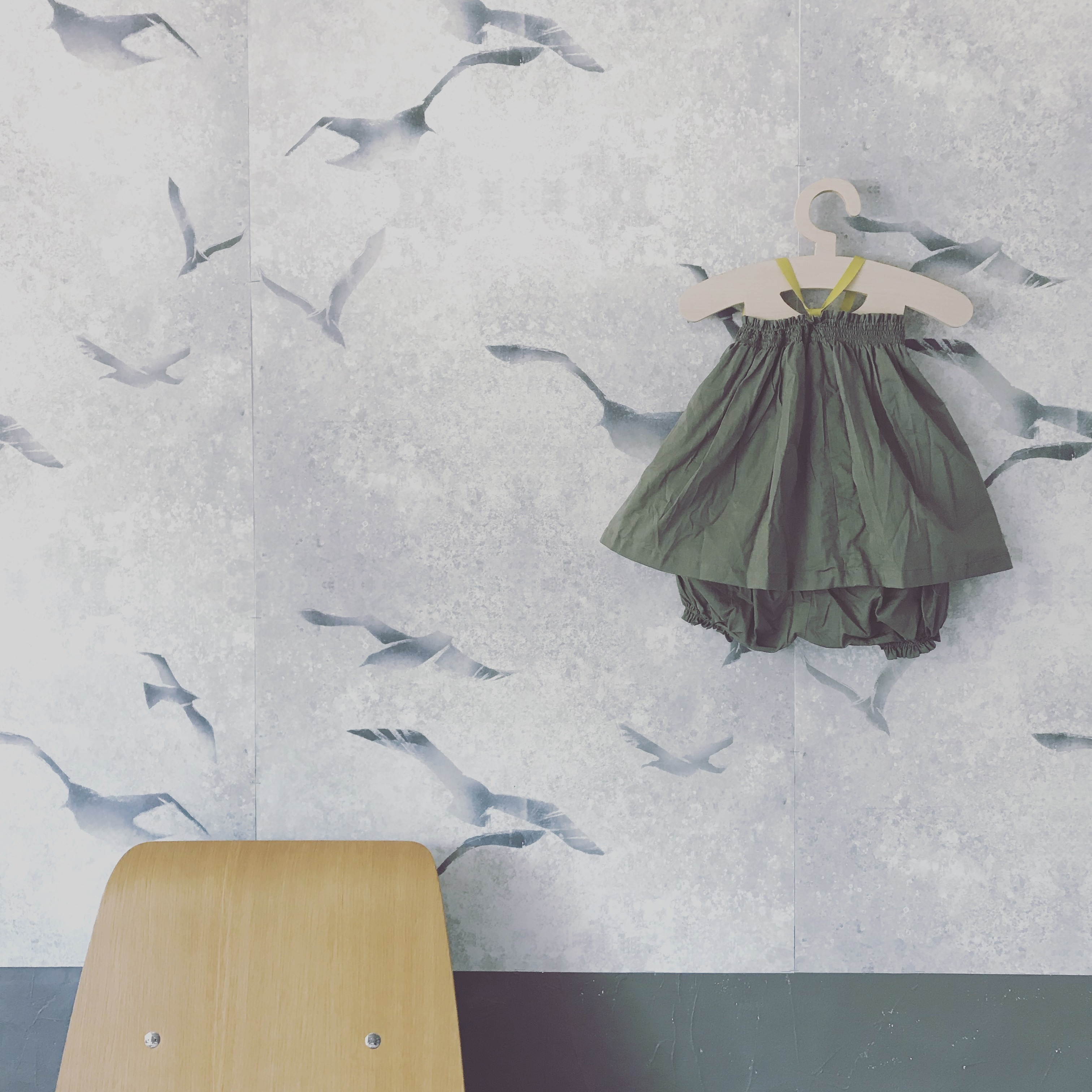 【ベージュ】smockingdress&bloomer