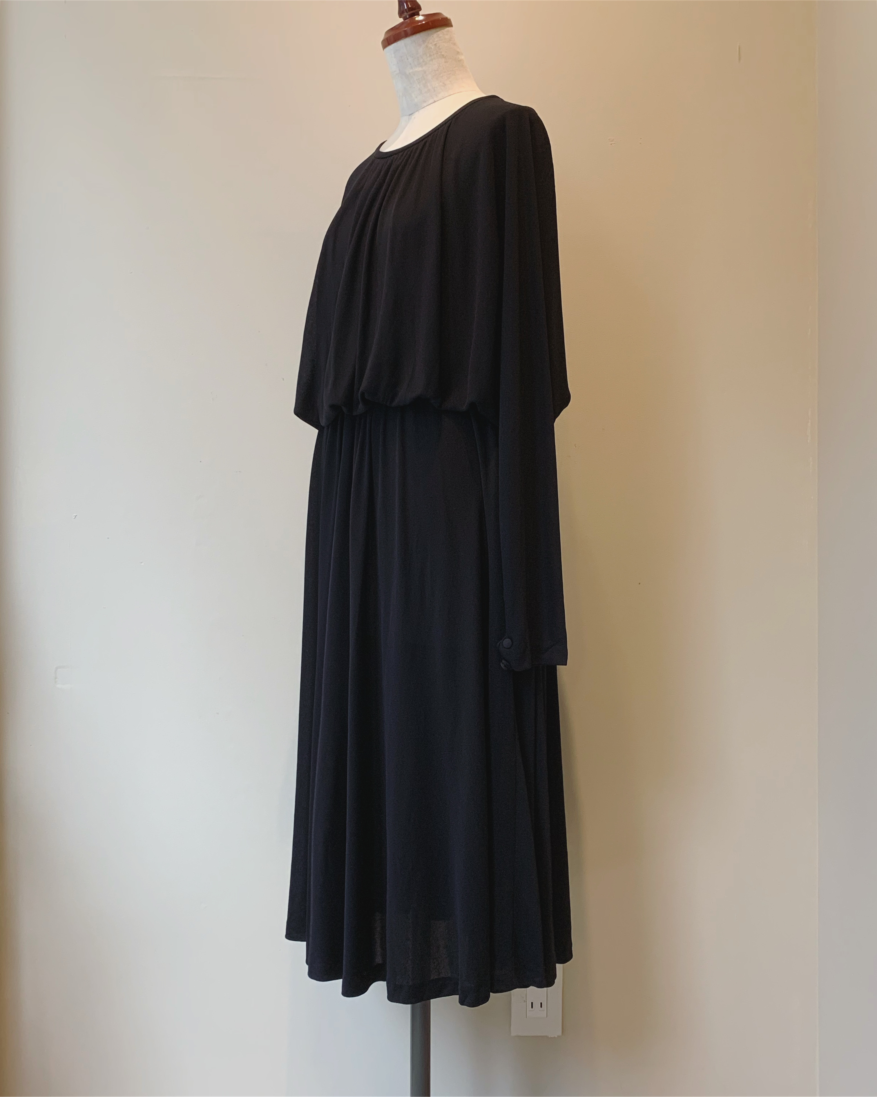 vintage French rayon dolman onepiece